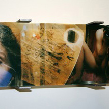claudia schumann, from the series REVOLUTION LOVE, 2006, 21 x 42 x 2,5 cm, photography, acrylic glass, steel (21 x 18 x 4 cm)