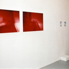 claudia schumann, installationview, failing 1+2, 2002, each 70 x 100 cm photography