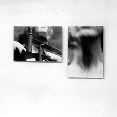 claudia schumann, installationview, LENI, 2009/2012, 35 x 50 cm, photography; HALS, 2005/2012, 50 x 35 cm, photography